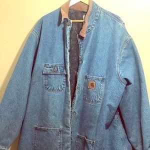 Vintage carhartt denim chore jacket